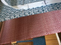 The red is the second towel using the UKI for weft