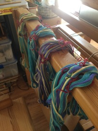 Laying the warp bundles out in order
